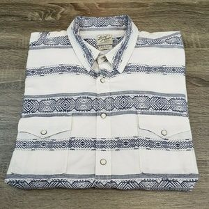 Lucky Brand Short Sleeve Pearl Snap Western Shirt